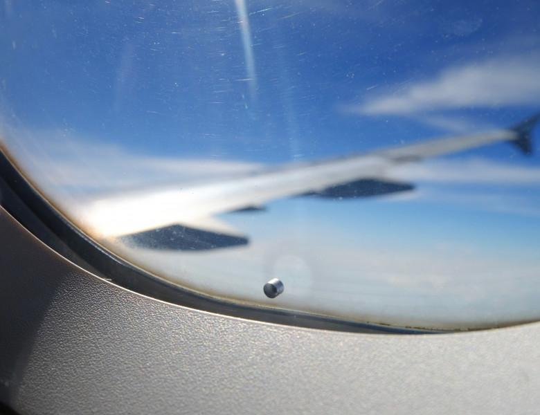 gaura geam avion