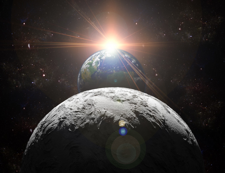 luna pamant soare sistem solar