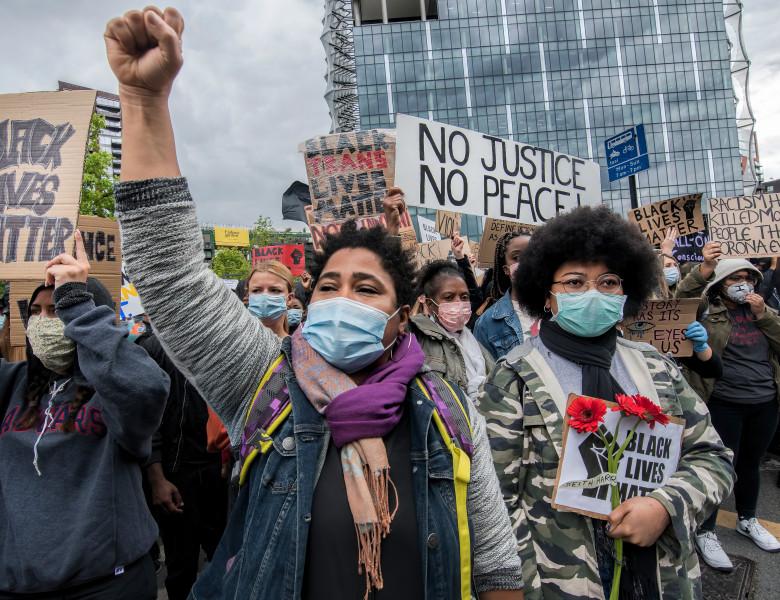 proteste black lives matter in londra 2020
