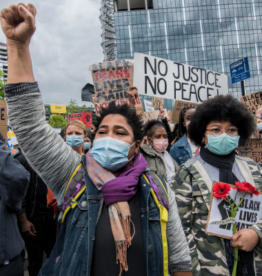 proteste black lives matter in londra 2020
