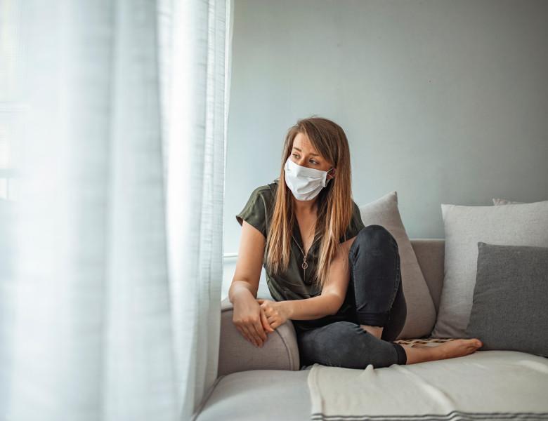 Covid-19,Pandemic,Coronavirus,Mask,Woman,Home,Covid-19,Lonely,Quarantined,Girl