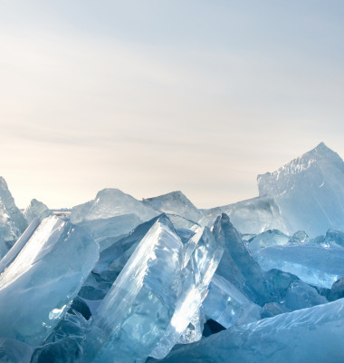 Winter.,Extremal,Cracks,On,Ice,Of,Lake,Baikal.,Thickness,Of
