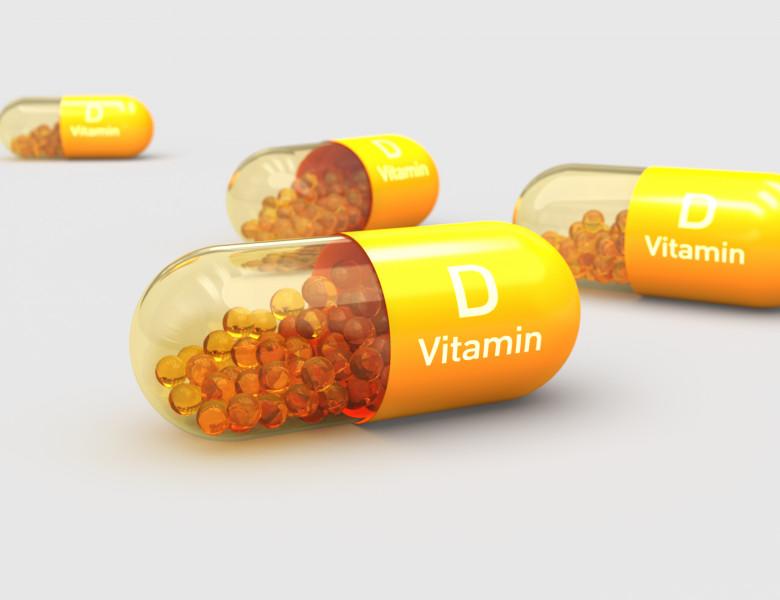 Vitamin,D,,Capsule,,Illustration,3d