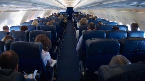 Interiorul unui avion