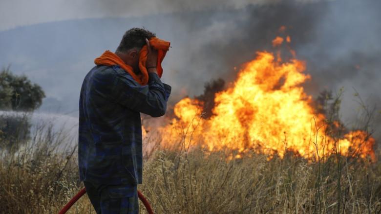 Incendii devastatoare în Grecia