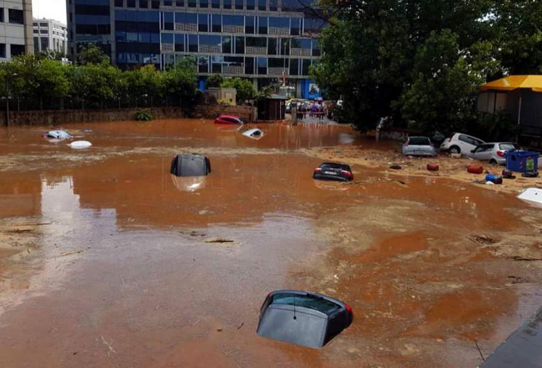 Inundații în Grecia, ploi torențiale