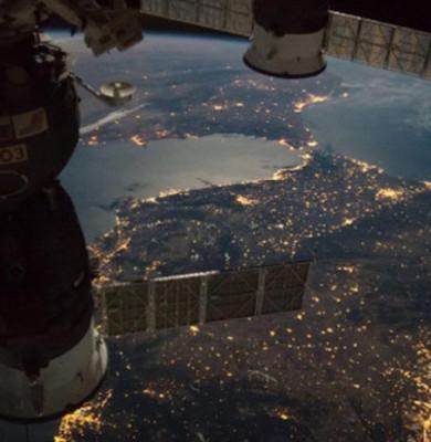 Stația Spațială Internațională deasupra Pământului