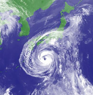 Taifun în Japonia