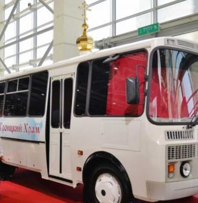 Biserică-autobuz în Rusia