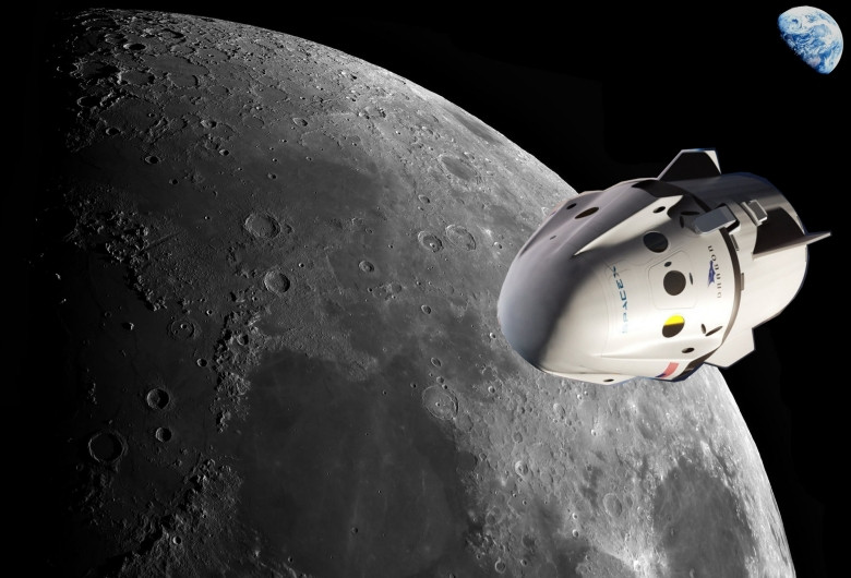 Turism spațial, către Lună, cu SpaceX
