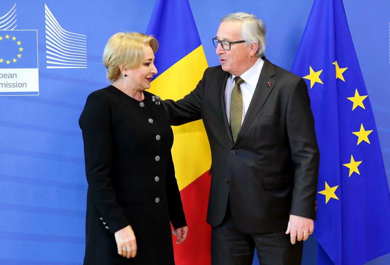 Viorica Dăncilă și Jean-Claude Juncker, la Brussels
