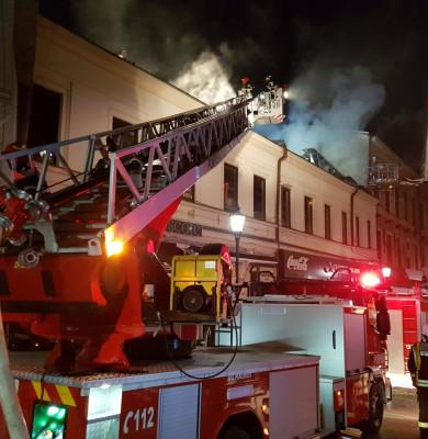 Incendiu în Centrul Vechi
