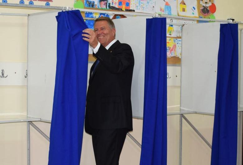 Klaus Iohannis la vot