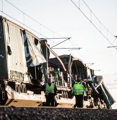 Accident feroviar cu marfar în Danemarca