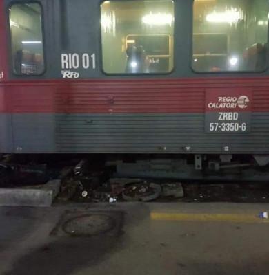 Tren deraiat în Gara de Nord