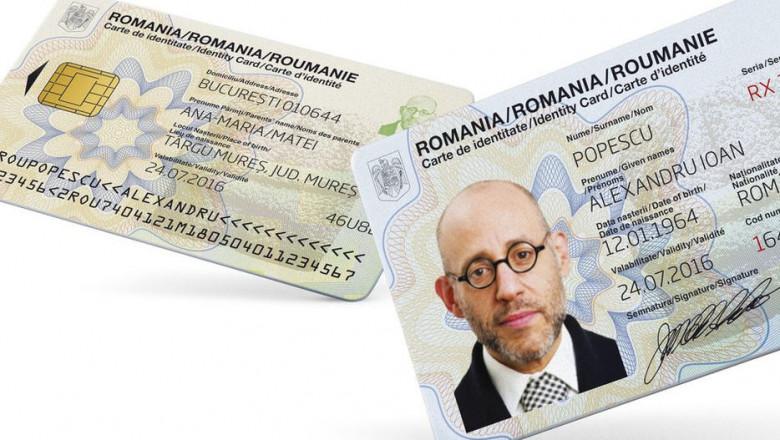 Carte de identitate cu cip, buletin, acte