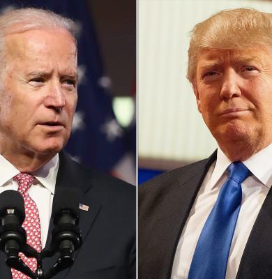 Joe Biden cu Donald Trump