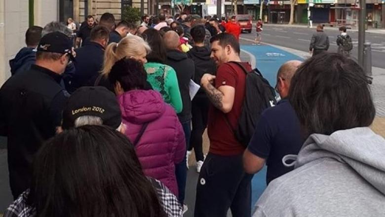 Coadă la o secție de vot din Londra