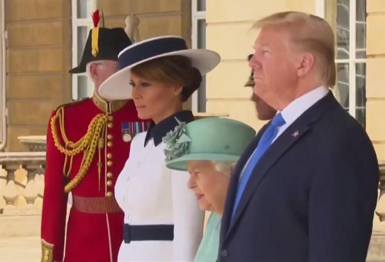 Donald și Melania Trump, în UK cu Regina Elisabeta