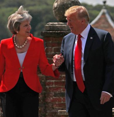 Donald Trump cu Theresa May
