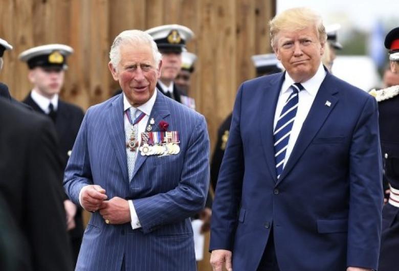 Prințul Charles cu Donald Trump