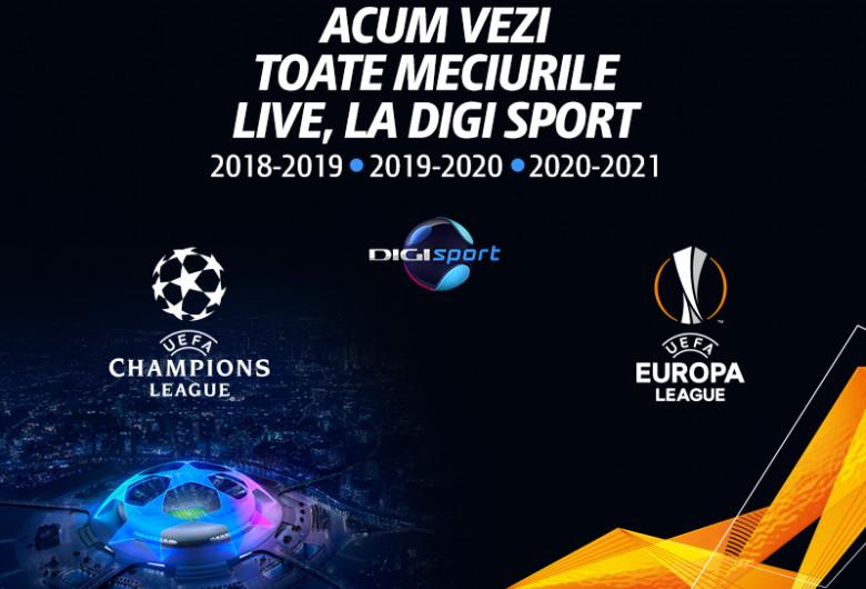 Digi Sport, Champions League, Europa League
