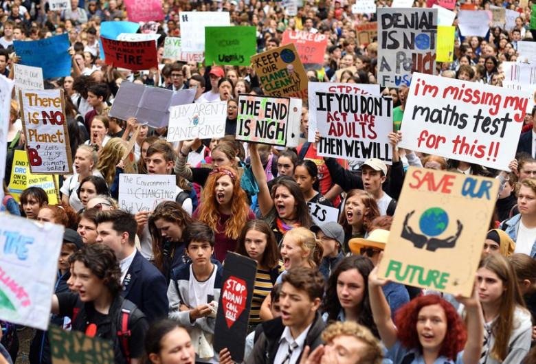 Grevă împotriva încălzirii globale, schimbări climatice, protest
