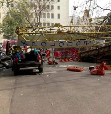 Macara prăbușită în Capitală