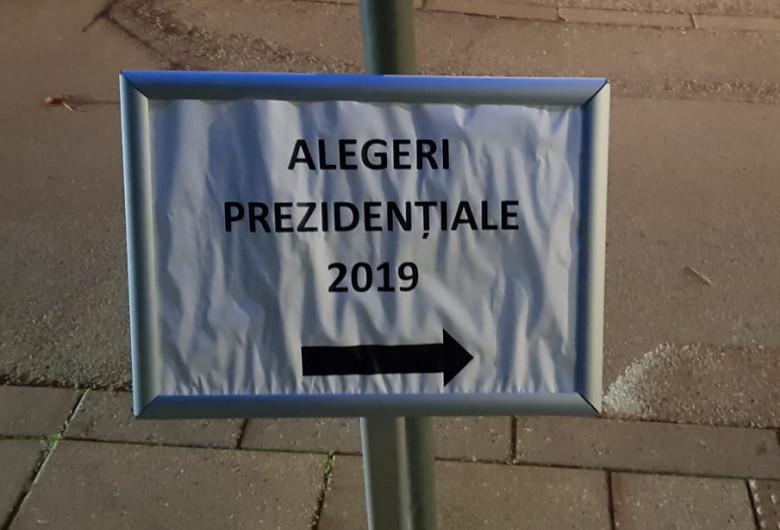 Semn cu alegerile prezidențiale din 2019