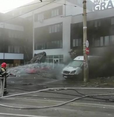 Explozie în parcarea unui hotel din Galați