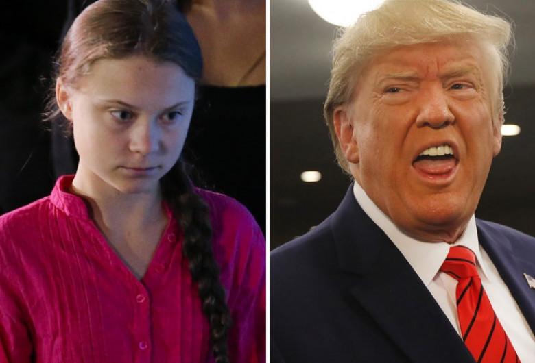 Greta Thunberg și Donald Trump