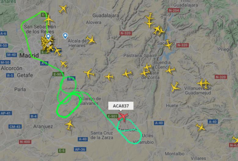 Avion la Barajas, Madrid