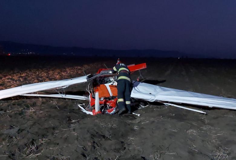 Avion prăbușit la Șiria, în județul Arad