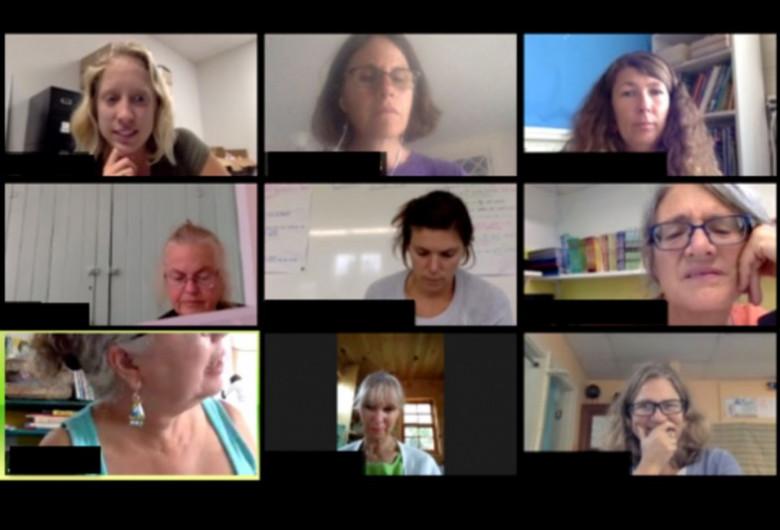 Conferință Zoom cu studenți