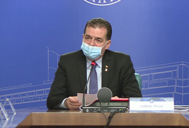 Ludovic Orban, în ședință de Guvern, cu mască de protecție