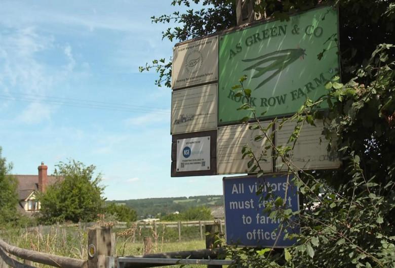 Fermă din Herefordshire, Marea Britanie cu COVID-19