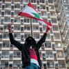 Protestatar din Liban, în Beirut, după explozie