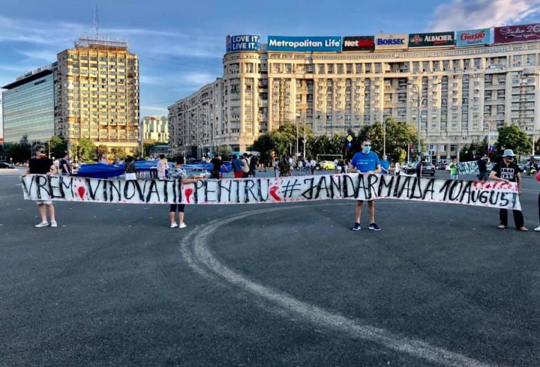 Protest CorupțiaUcide în Piața Victoriei, comemorare 10 august