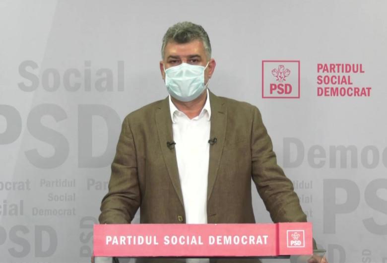 Marcel Ciolacu cu mască