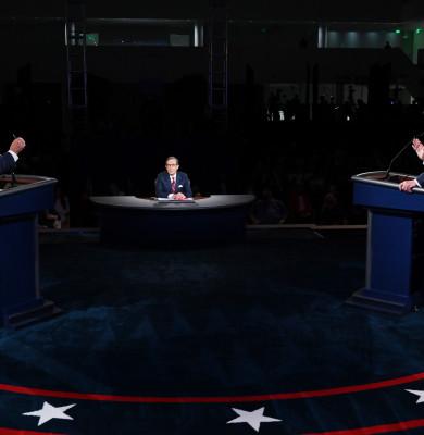 Donald Trump și Joe Biden în dezbatere