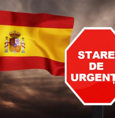 Spania intră în stare de urgență, lockdown, restricții, coronavirus, COVID-19, SARS-CoV-2, Madrid