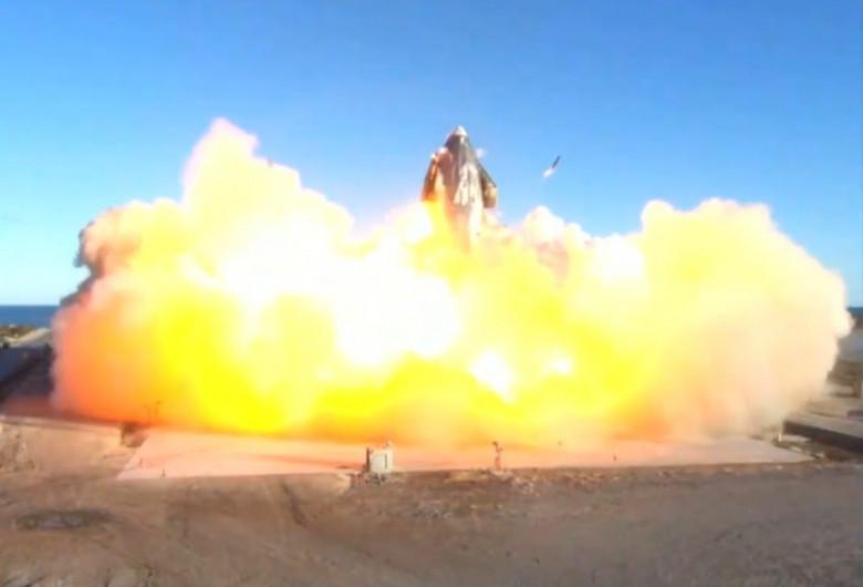 Starship se prăbușește la aterizare