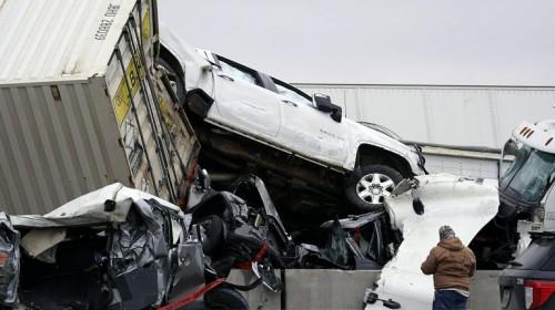 Accident în lanț în Texas