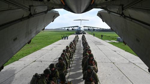 Russia Paratroopers Drills Departure