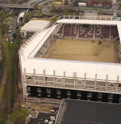 Stadionul Rapid din Giulești în construcție