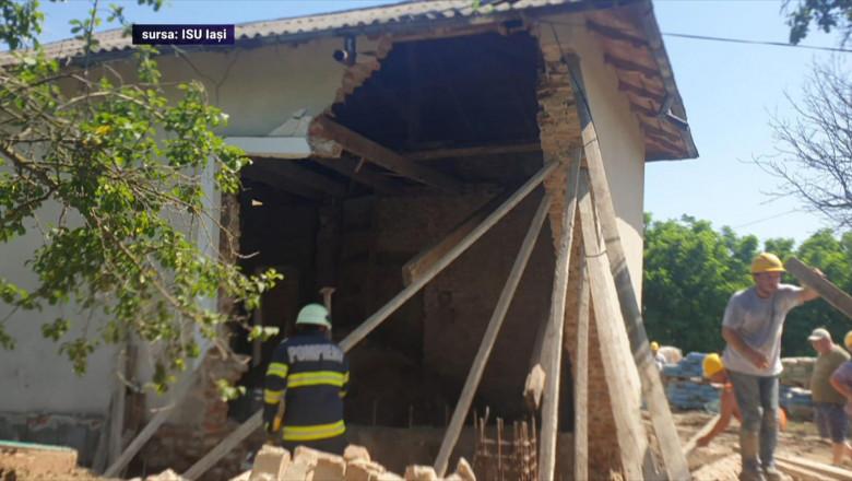 Muncitor mort în Iași cu zid prăbușit