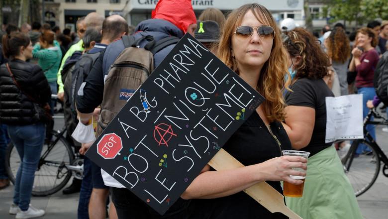 Proteste anti-restricții la Paris, Franța