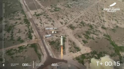 Zborul lui Jeff Bezos în spațiu cu New Shepard