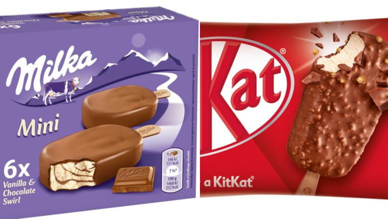 Înghețată Milka și KitKat