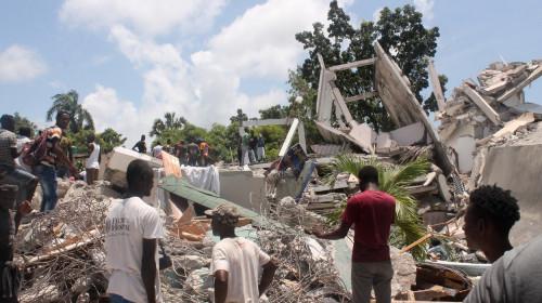 Cutremur seism în Haiti, clădiri prăbușite